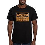 Warning Men's Fitted T-Shirt (dark)