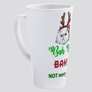 Bah Humbug Cat 17 oz Latte Mug