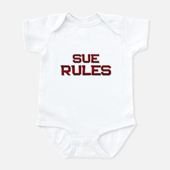 sue rules Infant Bodysuit