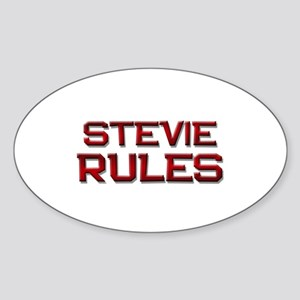 stevie rules Oval Sticker