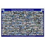 County Courthouses Of Texas Horizontal Blue Poster