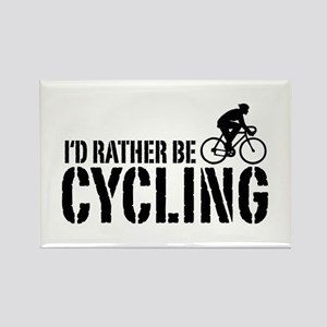 I'd Rather Be Cycling (Male) Rectangle Magnet