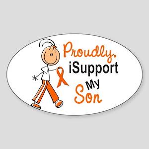 iSupport My Son SFT Orange Oval Sticker