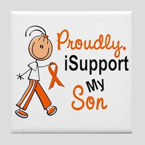 iSupport My Son SFT Orange Tile Coaster