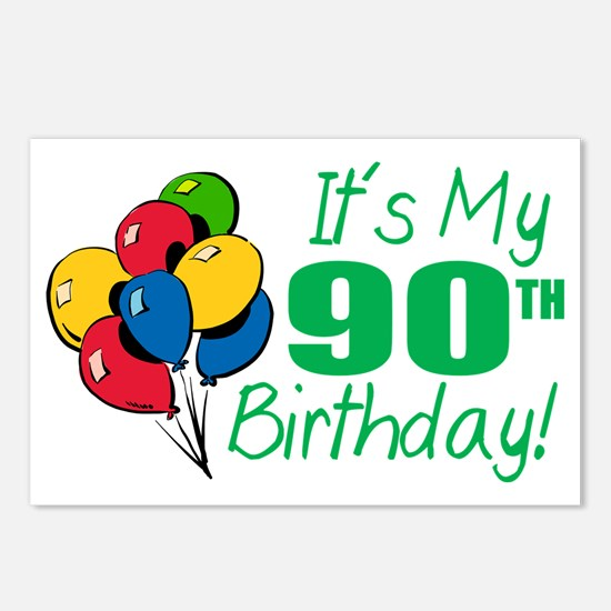 It's My 90th Birthday (Balloons) Postcards (Packag