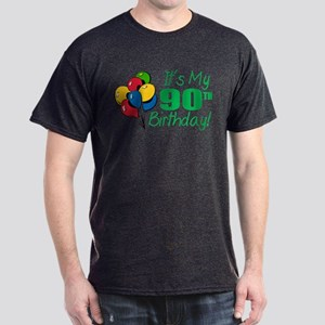 It's My 90th Birthday (Balloons) Dark T-Shirt