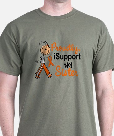 iSupport My Sister SFT Orange T-Shirt