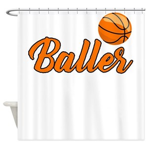 Kids Basketball Shower Curtains
