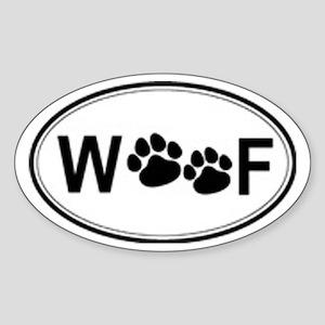 Woof Oval Sticker