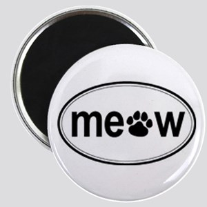 oval meow sign Magnet