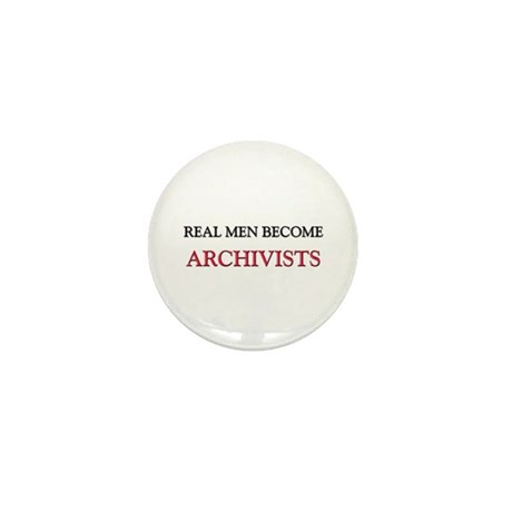 Real Men Become Archivists Mini Button (10 pack)