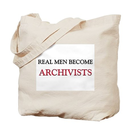 Real Men Become Archivists Tote Bag