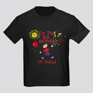 I'm The Big Brother of Twins Kids Dark T-Shirt