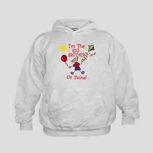 I'm The Big Brother of Twins Kids Hoodie
