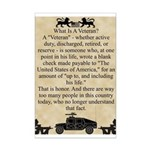 What Is A Veteran? Mini Poster Print