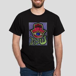 HAMSA SHALOM #1 Black T-Shirt