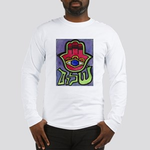 HAMSA SHALOM #1 Long Sleeve T-Shirt