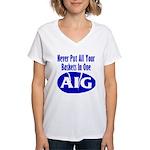 AIG Women's V-Neck T-Shirt