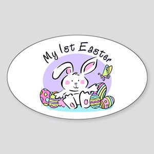 My 1st Easter Bunny Oval Sticker