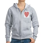 Red Heart Women's Zip Hoodie