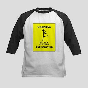 Tae Kwon Do Warning Kids Baseball Jersey