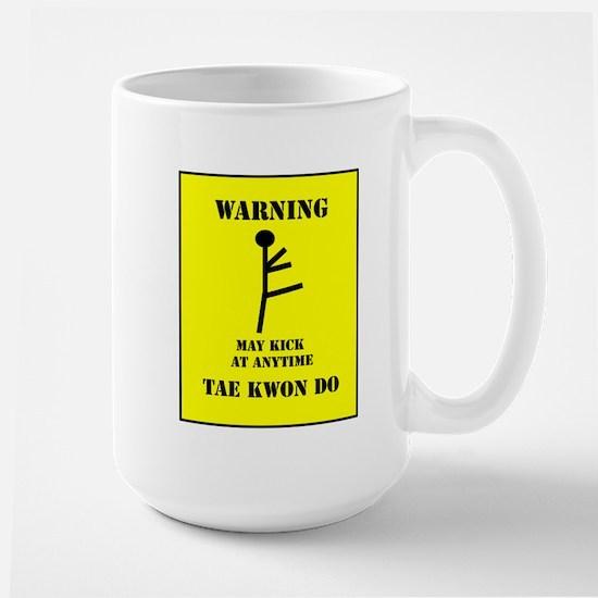 Tae Kwon Do Warning Large Mug