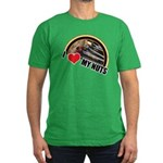 I Love My Nuts Men's Fitted T-Shirt (dark)