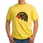 I Love My Nuts Yellow T-Shirt