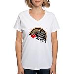 I Love My Nuts Women's V-Neck T-Shirt