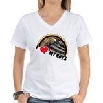 I Love My Nuts Women's V-Neck T-Shirt