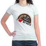 I Love My Nuts Jr. Ringer T-Shirt