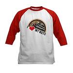 I Love My Nuts Kids Baseball Jersey