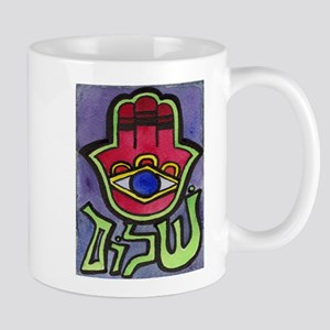 HAMSA SHALOM #1 Mug for LEFTIES