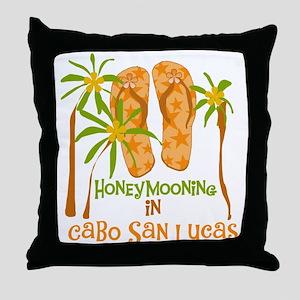 Honeymoon Cabo San Lucas Throw Pillow