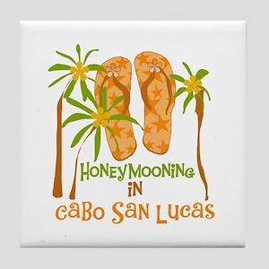 Honeymoon Cabo San Lucas Tile Coaster