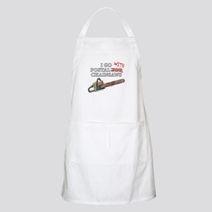 Postal for Chainsaws BBQ Apron