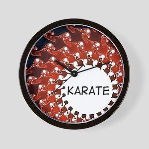 Karate Sun Wall Clock