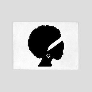 Afro-American Woman 5'x7'Area Rug