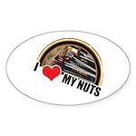 I Love My Nuts Oval Sticker