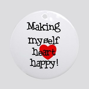 Making Heart Happy Ornament (Round)
