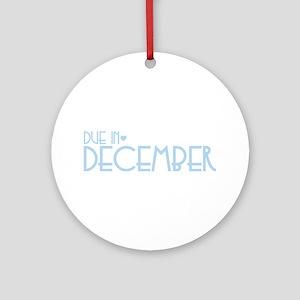 Blue Urban Heart Due December Ornament (Round)