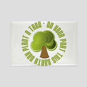 Plant a Tree Earth Day Rectangle Magnet