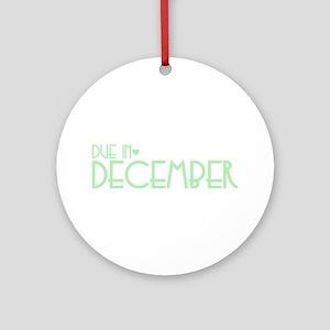 Green Urban Heart Due December Ornament (Round)
