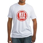 RADIO LUXEMBOURG 1980S -  Fitted T-Shirt