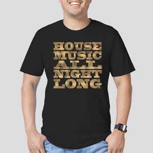House Music All Night Long Men's Fitted T-Shirt (d