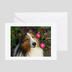 Spring Sheltie Greeting Card