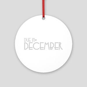 Grey Urban Heart Due December Ornament (Round)
