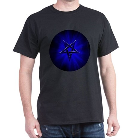 Ominous Blue Inverted Pentagram Dark T-Shirt
