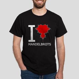 I Heart Mandelbrots Black T-Shirt