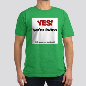 Yes We're Twins - Men's Fitted T-Shirt (dark)